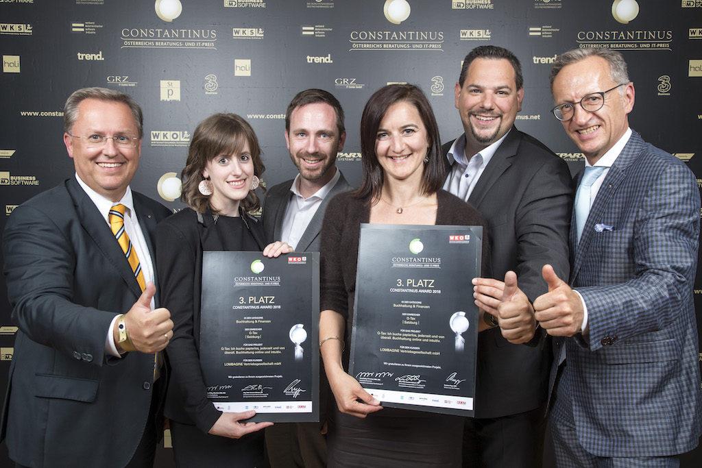 Q-Tax auf Platz 3-Constantinus Award 2018