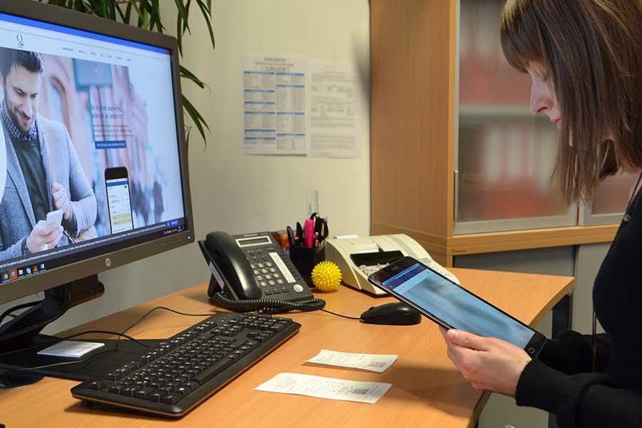 Rechnungsscan mittels Tablet